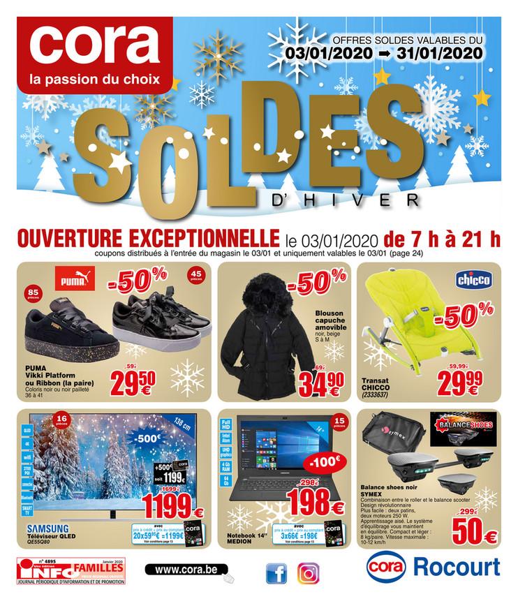 Folder Cora du 03/01/2020 au 31/01/2020 - Soldes - Rocourt