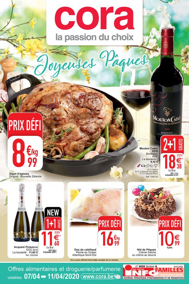 Folder Cora du 07/04/2020 au 11/04/2020 - Promotions de la semaine 15 food
