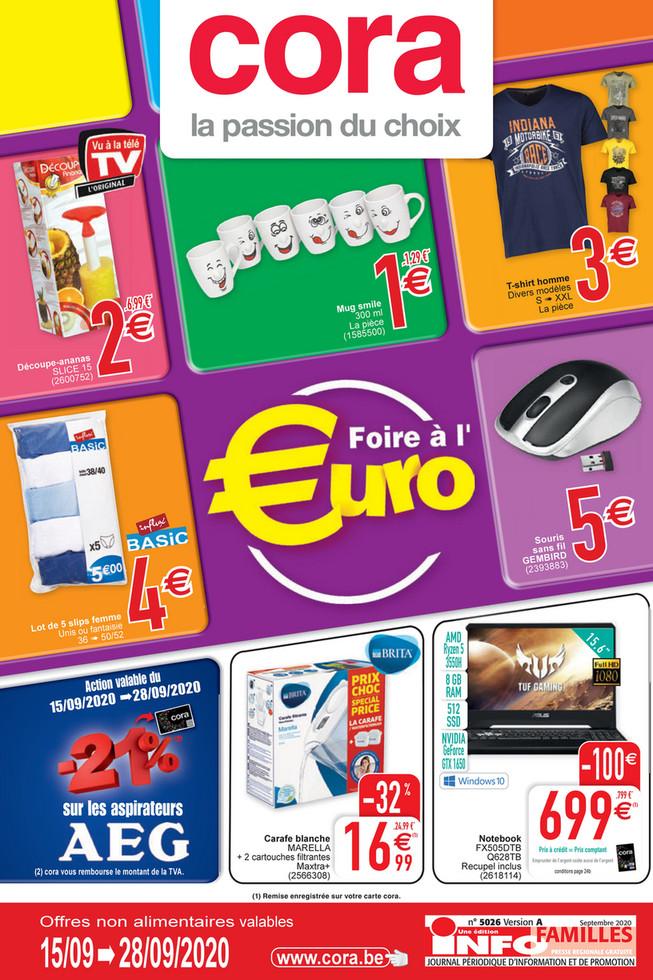 Folder Cora du 15/09/2020 au 28/09/2020 - Promotions de la semaine 38 non food