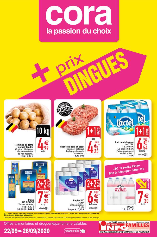 Folder Cora du 22/09/2020 au 28/09/2020 - Promotions de la semaine 39 food
