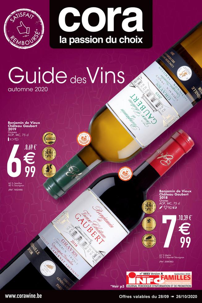 Folder Cora du 28/09/2020 au 26/10/2020 - Promotions de la semaine 40 vin