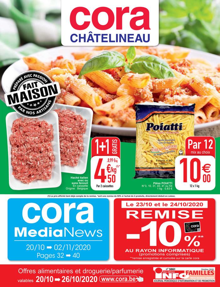 Folder Cora du 20/10/2020 au 26/10/2020 - Promotions de la semaine 43 CH food