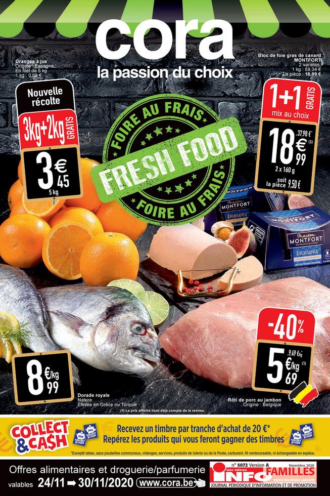 Folder Cora du 24/11/2020 au 30/11/2020 - Promotions de la semaine 48 food