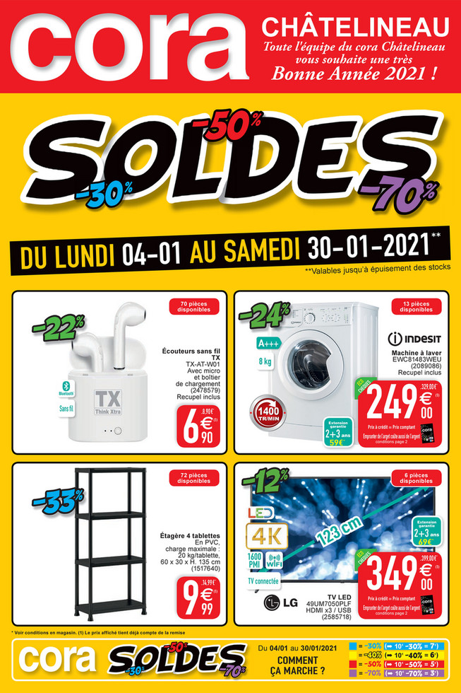 Folder Cora du 04/01/2021 au 30/01/2021 - B - Soldes promotions de la semaine 1