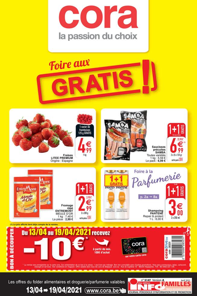 Folder Cora du 15/04/2021 au 19/04/2021 - Promotions de la semaine 15 food