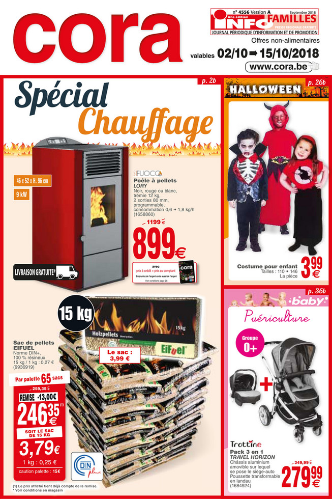 Folder Cora du 02/10/2018 au 15/10/2018 - Promotions de la semaine 40 non food