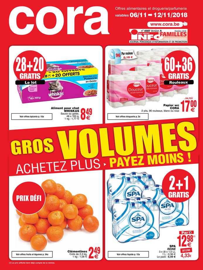 Folder Cora du 06/11/2018 au 11/11/2018 - Promotions de la semaine 45 food