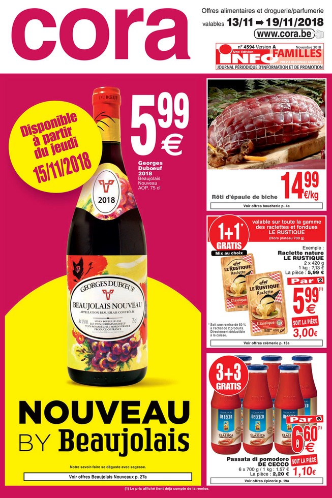 Promotions de la semaine 46 food