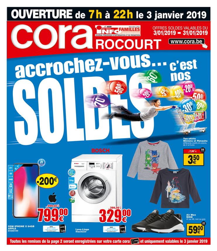 Folder Cora du 03/01/2019 au 31/01/2019 - Promotions de la semaine Rocourt soldes