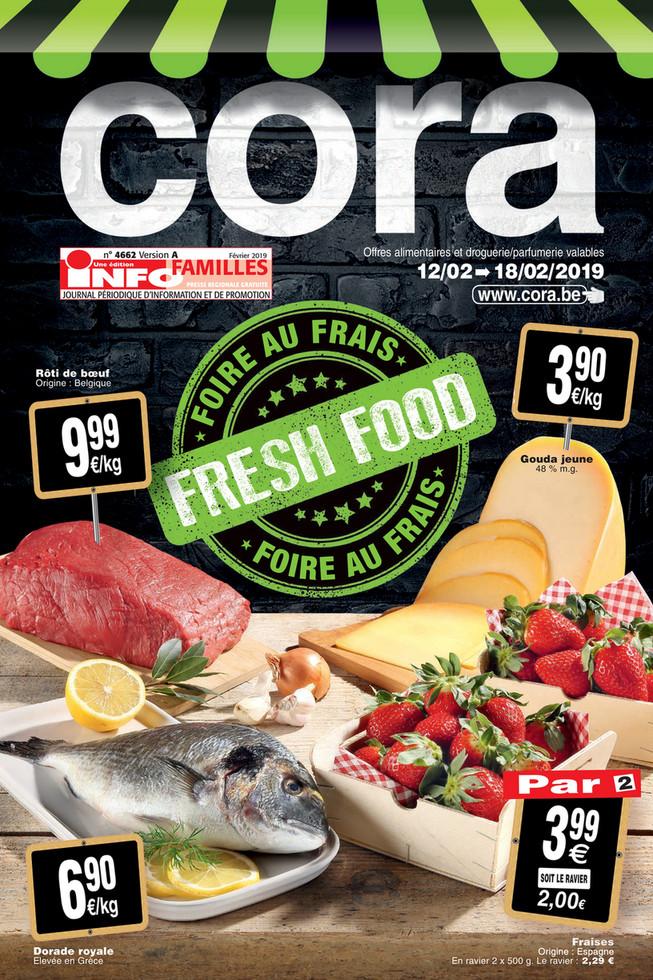 Folder Cora du 12/02/2019 au 18/02/2019 - promotions de la semaine 6 food