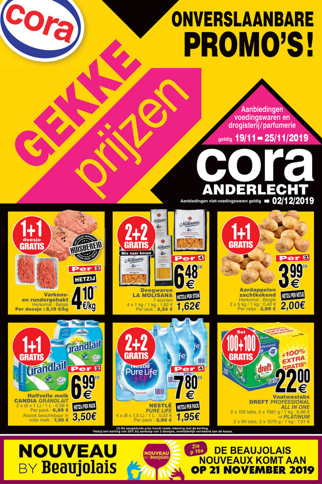 Cora folder van 19/11/2019 tot 25/11/2019 - Weekpromoties 46 food