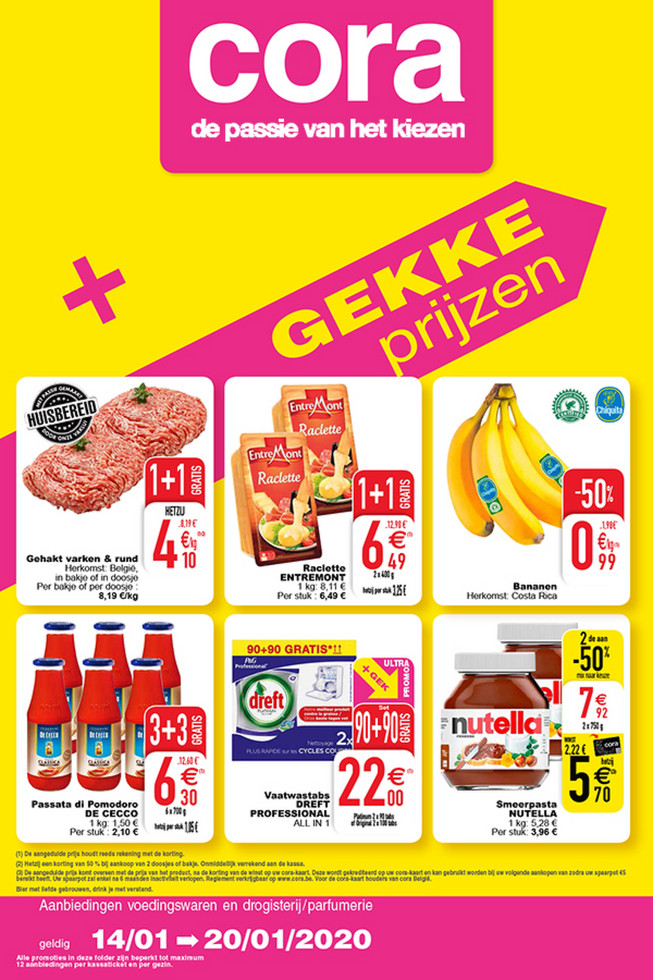 Cora folder van 14/01/2020 tot 20/01/2020 - Weekpromoties 3 food
