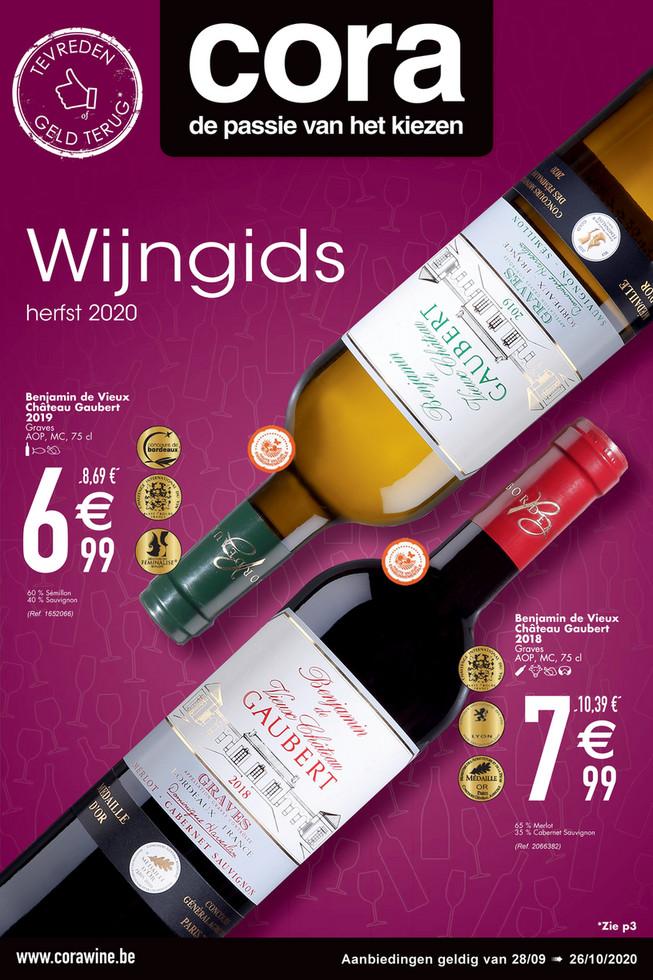 Cora folder van 28/09/2020 tot 26/10/2020 - Weekpromoties 40 wijn