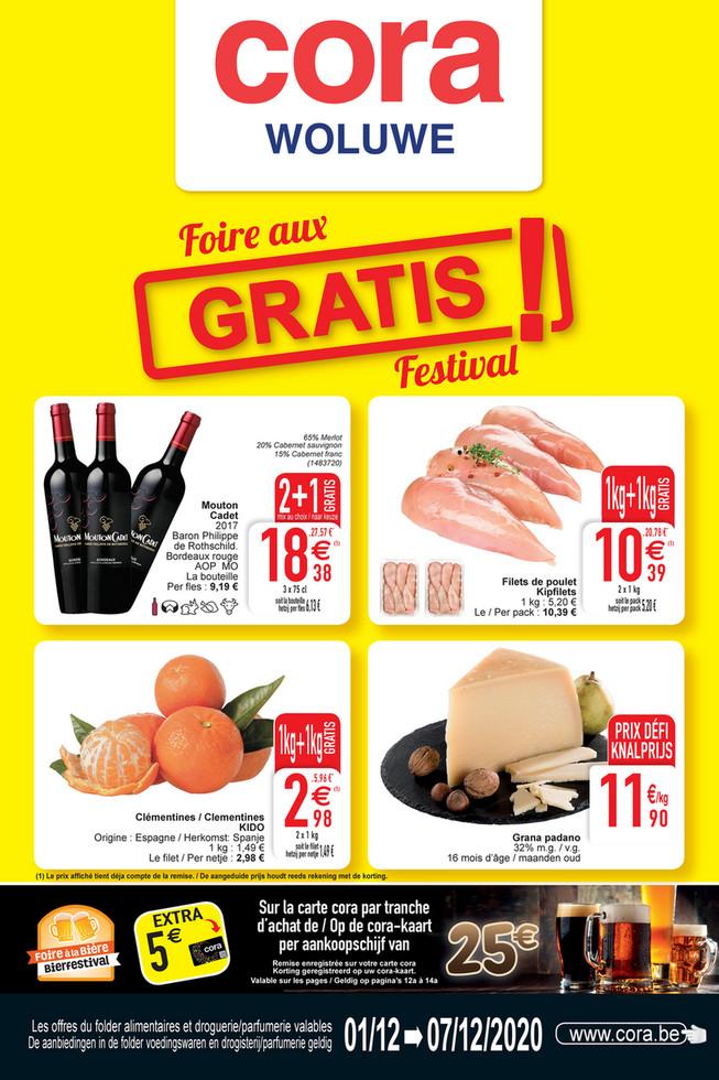 Cora folder van 01/12/2020 tot 07/12/2020 - Weekpromoties 49 food WO