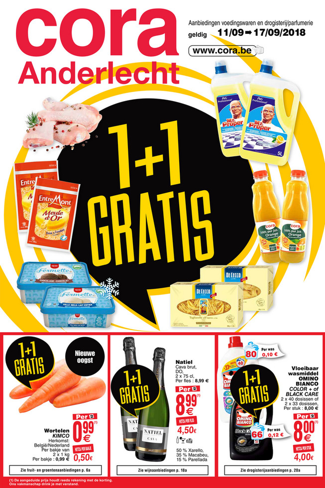 Cora folder van 11/09/2018 tot 17/09/2018 - weekpromos food