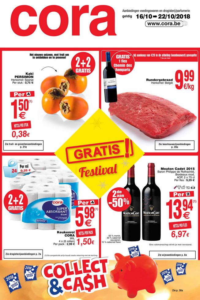 Cora folder van 16/10/2018 tot 22/10/2018 - Weekpromoties 42 food