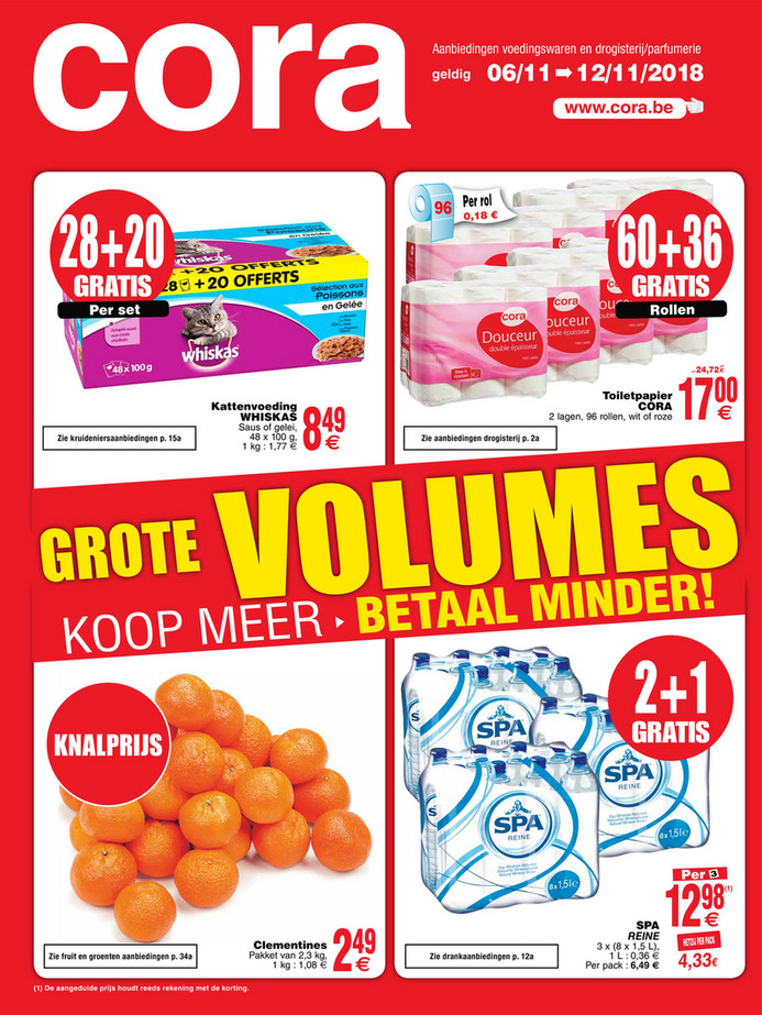 Cora folder van 06/11/2018 tot 11/11/2018 - Weekpromoties 45 food