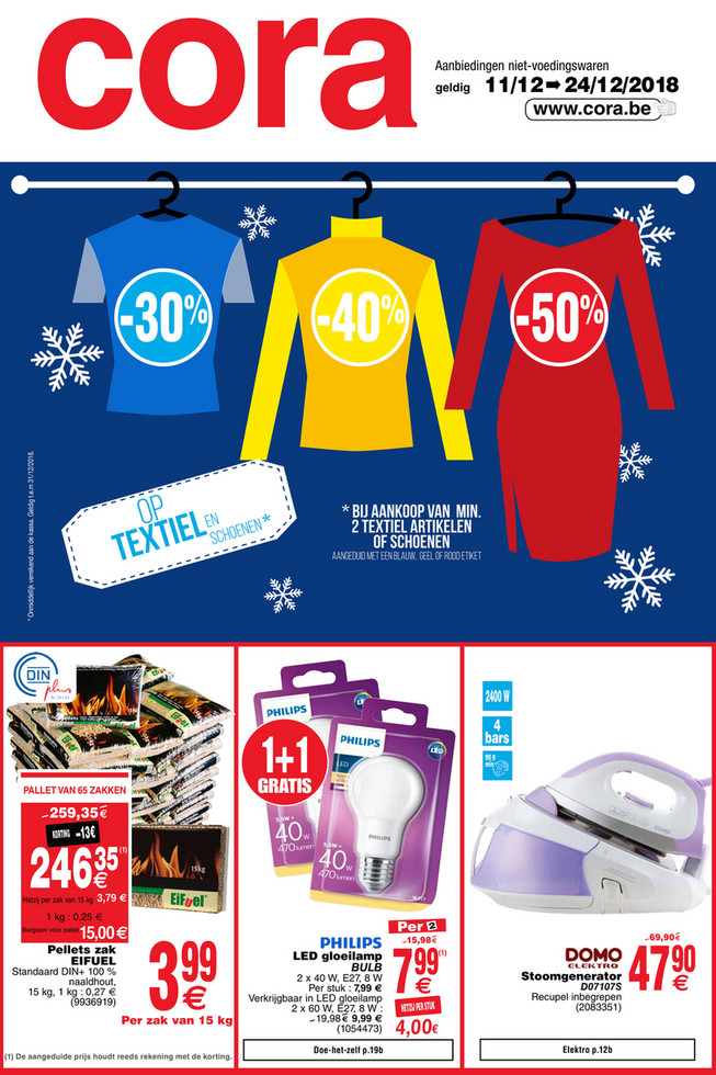 Cora folder van 11/12/2018 tot 24/12/2018 - Weekpromoties 51 non food