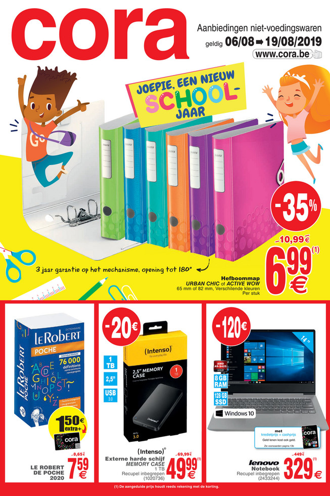 Cora folder van 06/08/2019 tot 19/08/2019 - Weekpromoties 32 non food