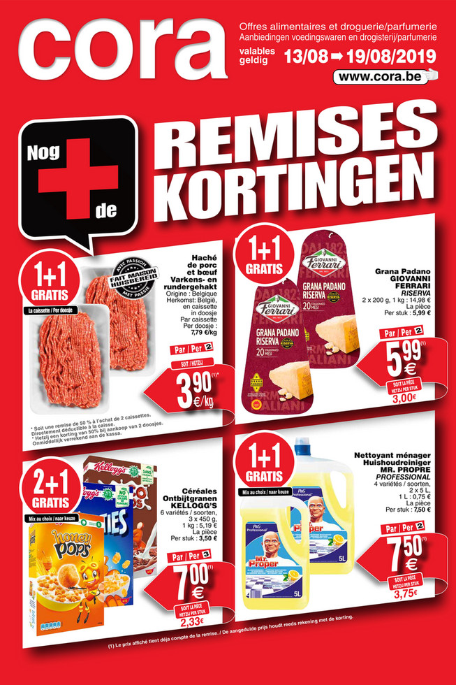 Cora folder van 13/08/2019 tot 19/08/2019 - Weekpromoties 33 food