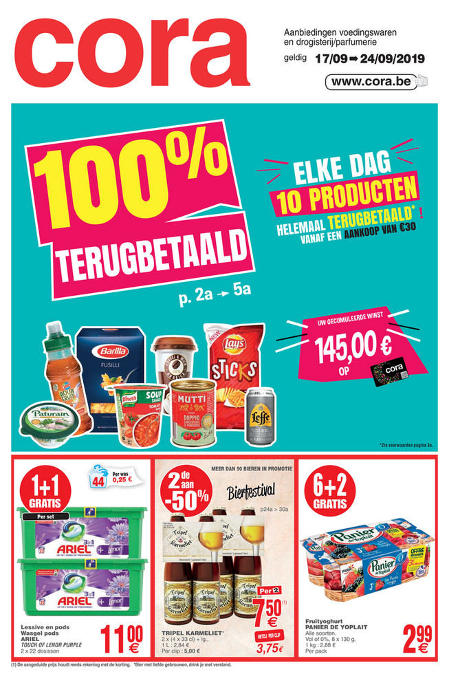 Cora folder van 17/09/2019 tot 24/09/2019 - Weekpromoties 36 food