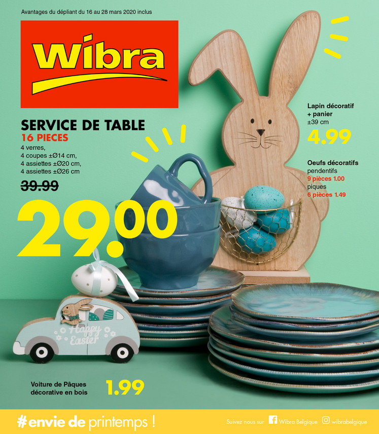 Folder Wibra du 16/03/2020 au 28/03/2020 - Promotions de la semaine 11