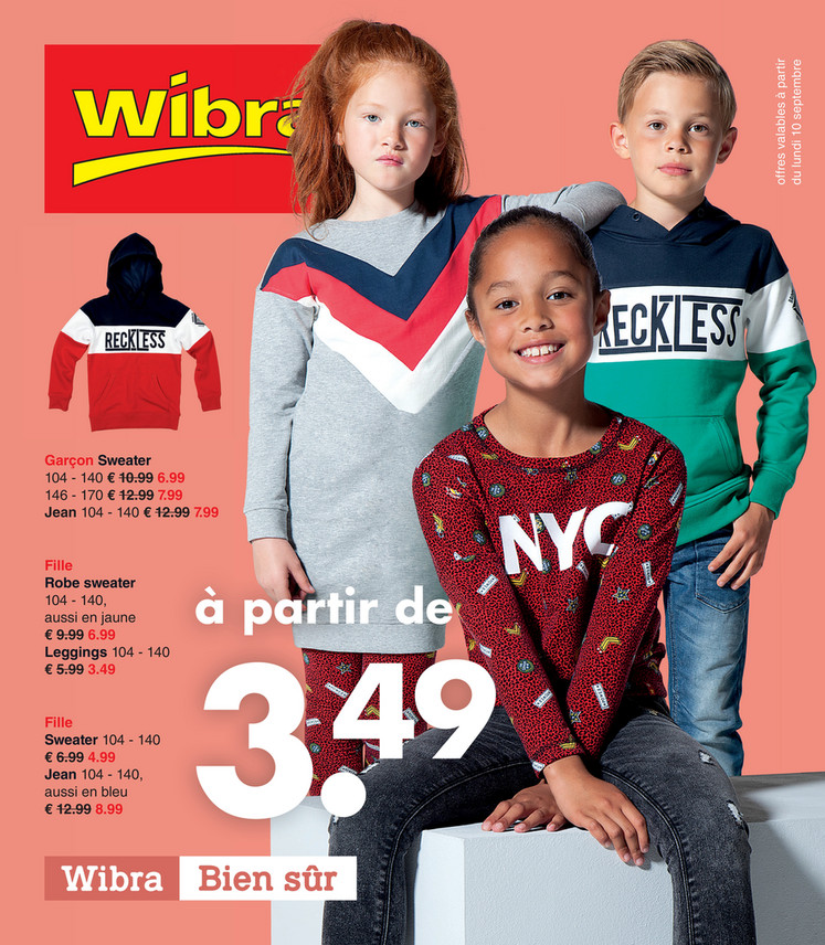 Folder Wibra du 10/09/2018 au 22/09/2018 - Promotions de la semaine 37
