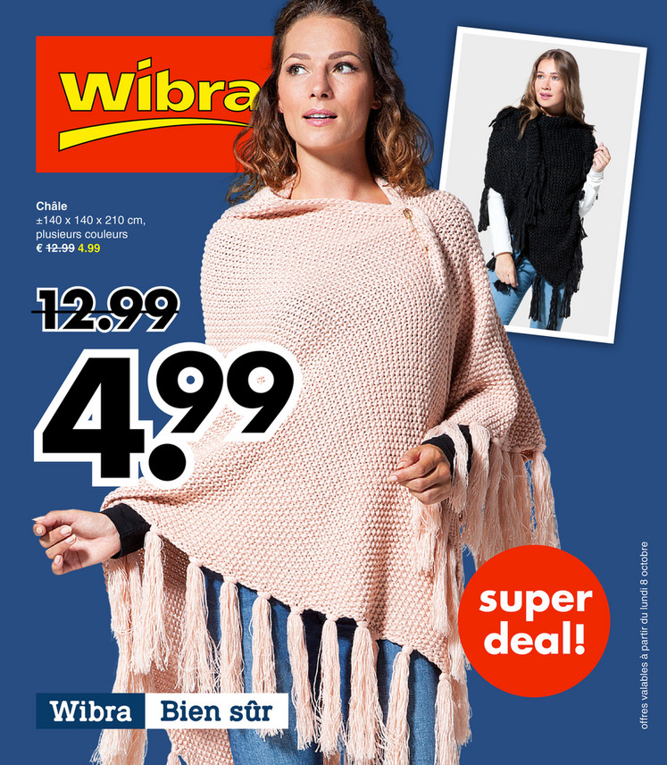 Folder Wibra du 08/10/2018 au 20/10/2018 - Promotions de la semaine 40