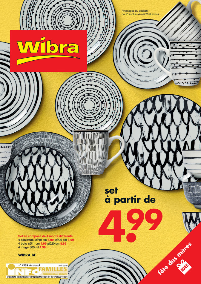 Folder Wibra du 15/03/2019 au 04/05/2019 - Promotions de la semaine 15