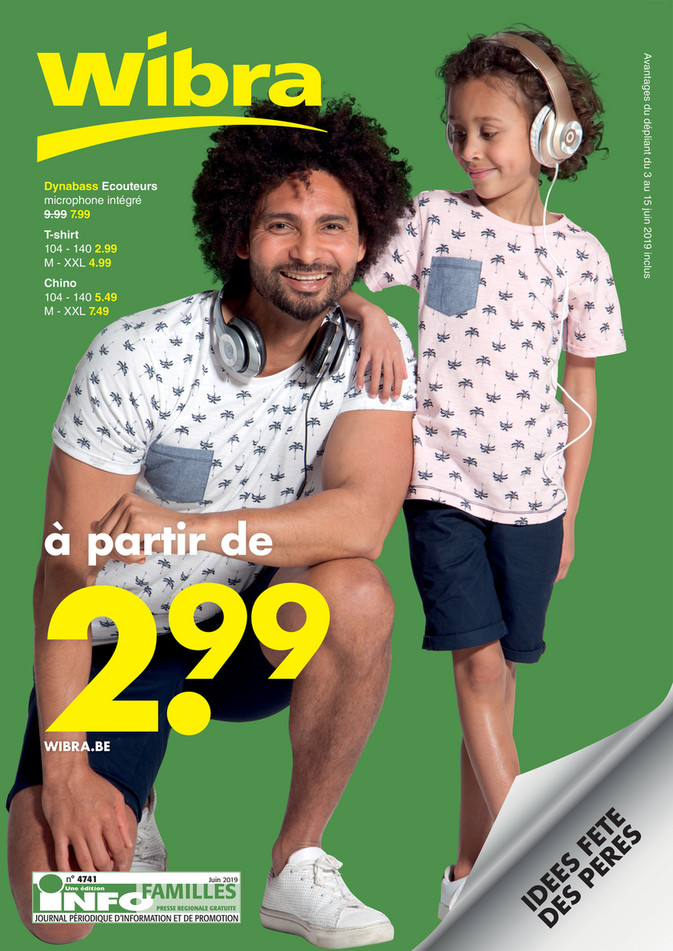 Folder Wibra du 03/06/2019 au 15/06/2019 - Promotions de la semaine 21