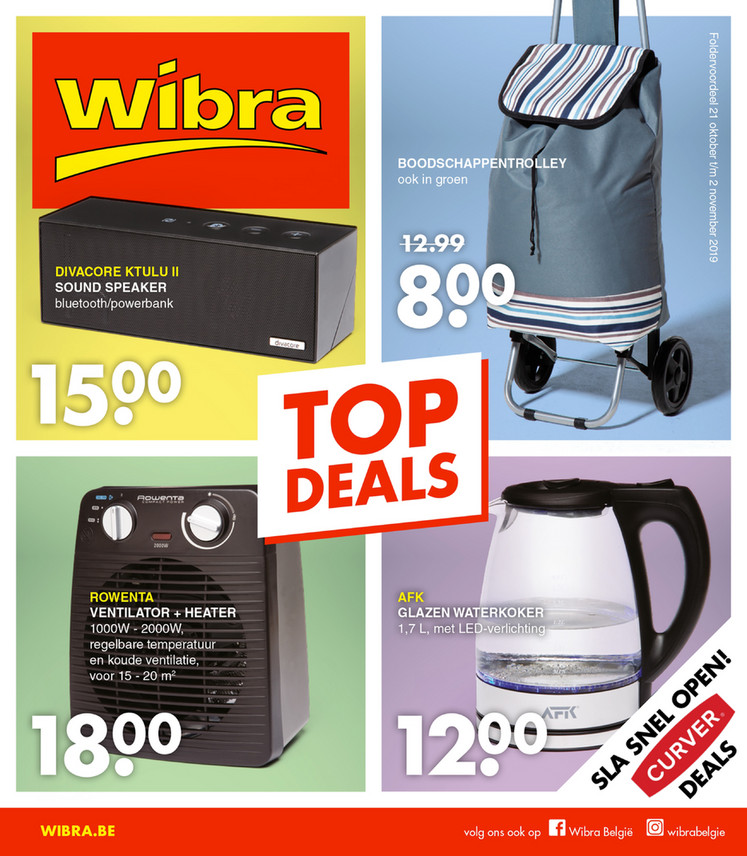 Wibra folder van 21/10/2019 tot 02/11/2019 - Weekpromoties 42