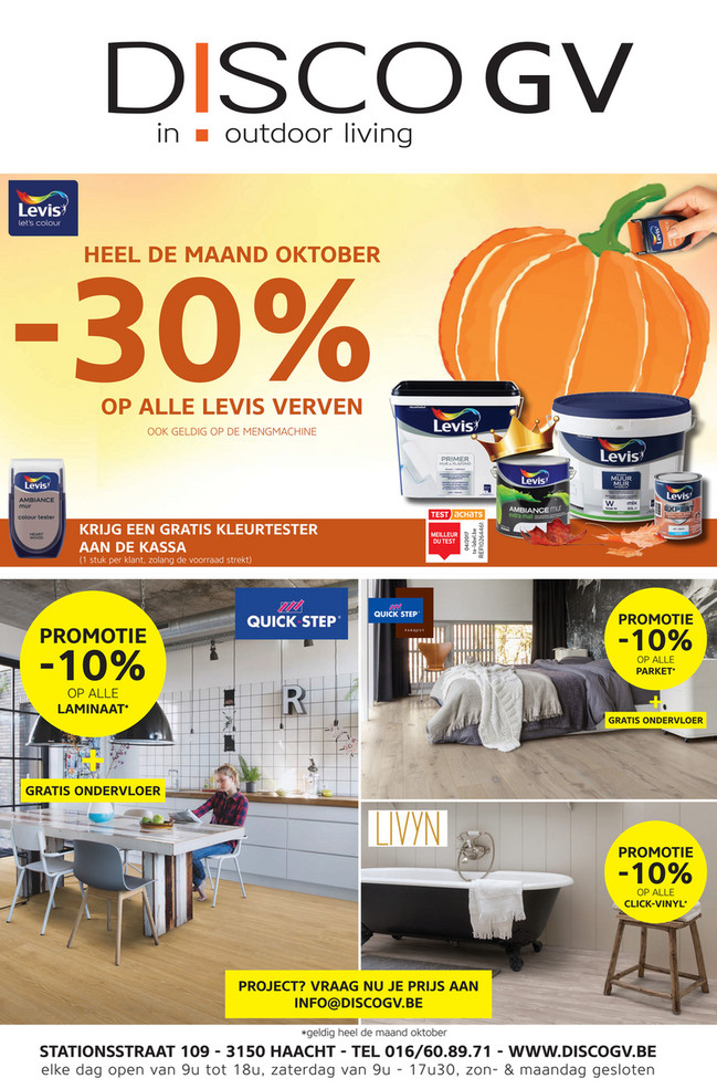 Disco G.V. folder van 01/10/2018 tot 31/10/2018 - Maandpromoties