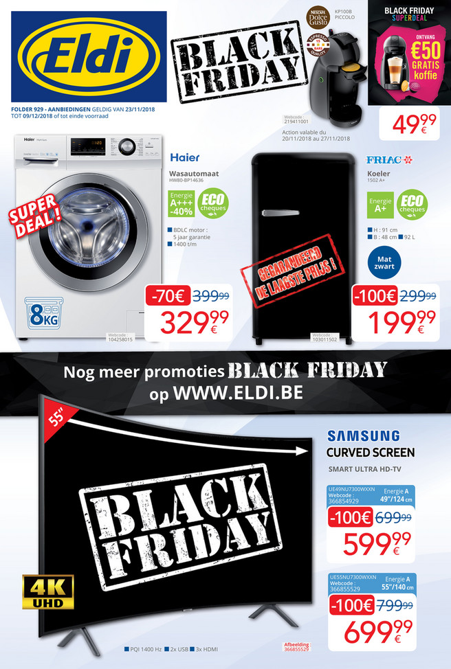 Eldi folder van 23/11/2018 tot 09/12/2018 - Maandpromoties