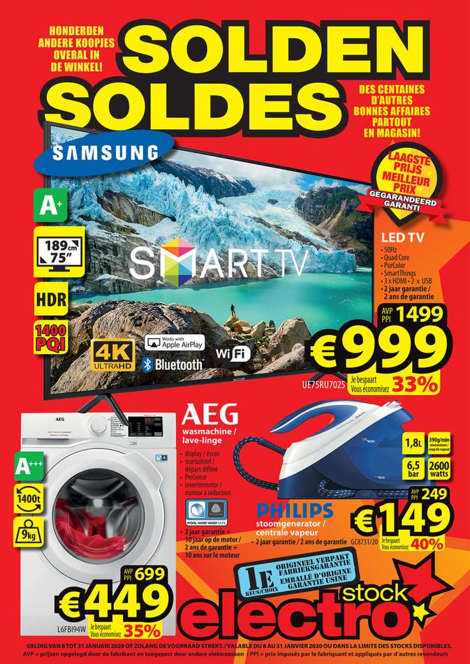 Folder ElectroStock du 08/01/2020 au 31/01/2020 - Soldes