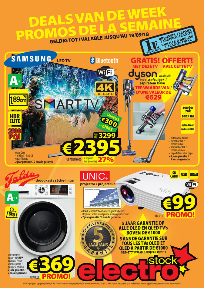 Folder ElectroStock du 12/09/2018 au 19/09/2018 - Promotions de la semaine 37