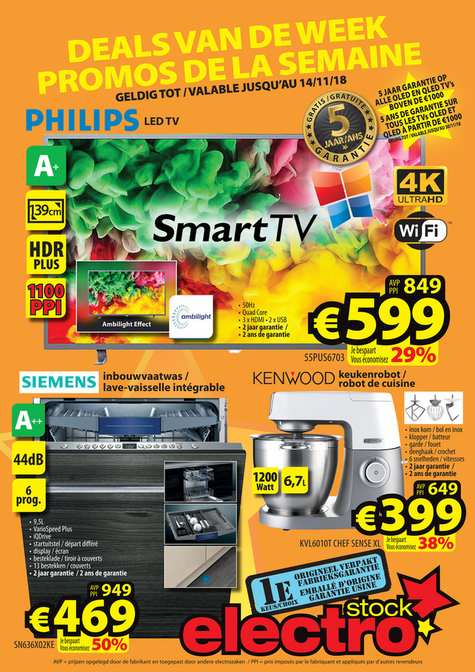 Folder ElectroStock du 07/11/2018 au 14/11/2018 - Promotions de la semaine 45