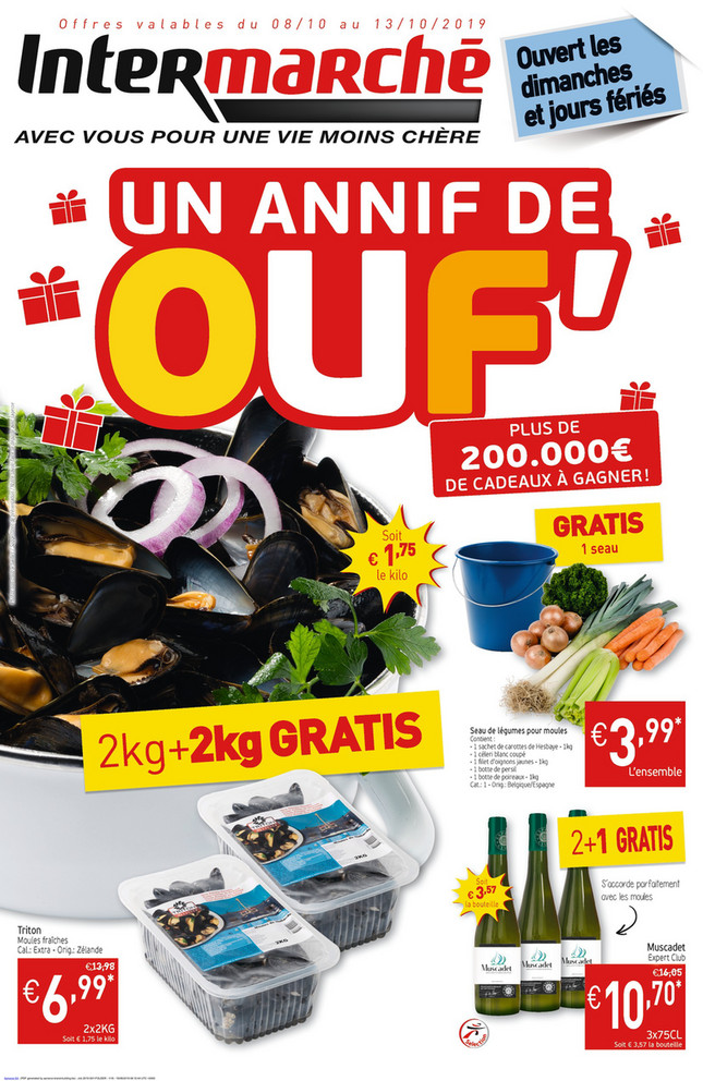 Folder Intermarché du 08/10/2019 au 13/10/2019 - Promotions de la semaine 41