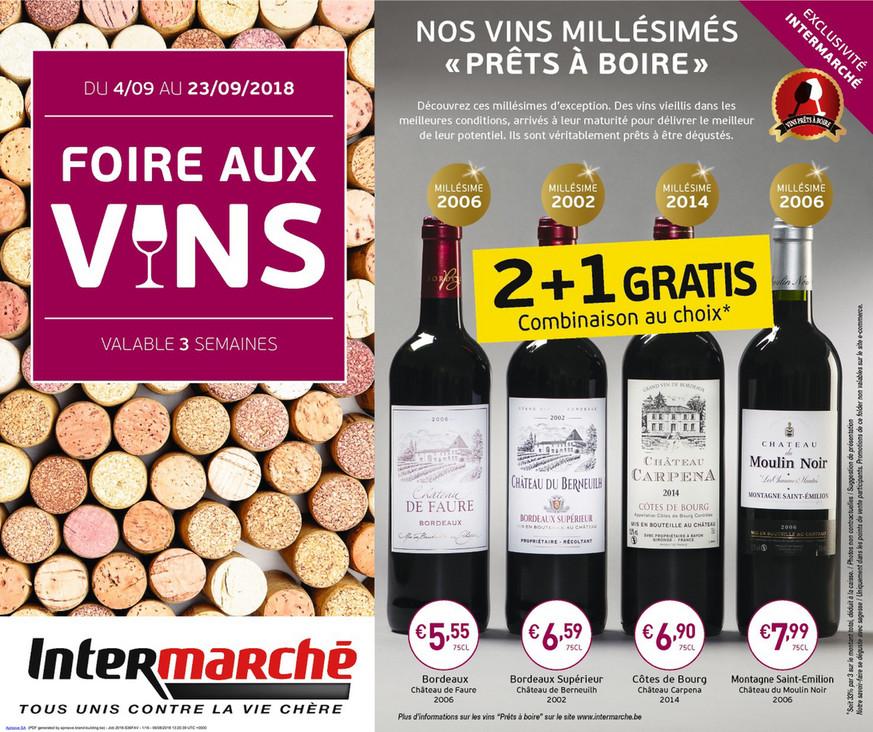 Folder Intermarché du 04/09/2018 au 23/09/2018 - Festival des vins