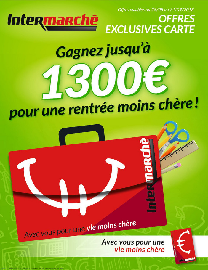 Folder Intermarché du 28/08/2018 au 24/09/2018 - Offre Exclusive Carte