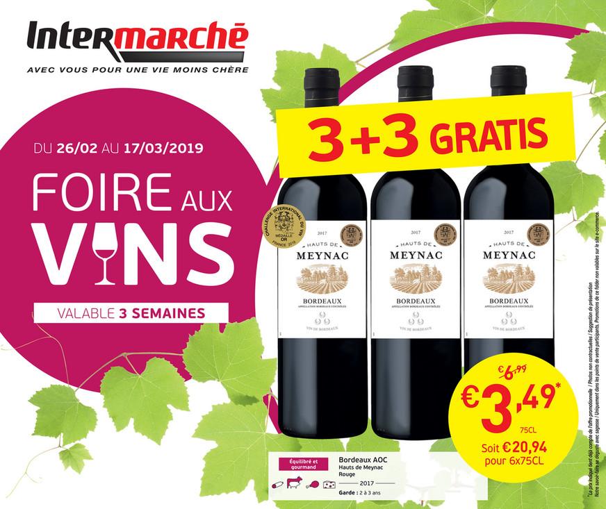 Folder Intermarché du 26/02/2019 au 17/03/2019 - Foire aux vins