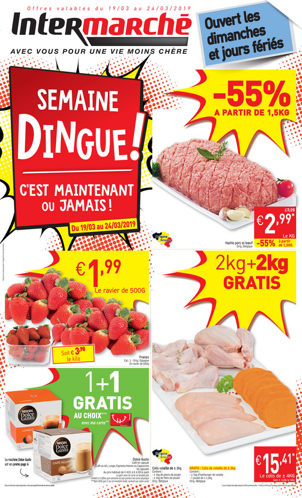 Folder Intermarché du 19/03/2019 au 24/03/2019 - Promotions de la semaine 12