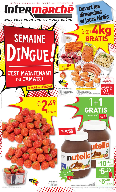 Carte Intermarche Belgique.Folder Intermarche Du 14 05 2019 Au 19 05 2019 Promotions De La