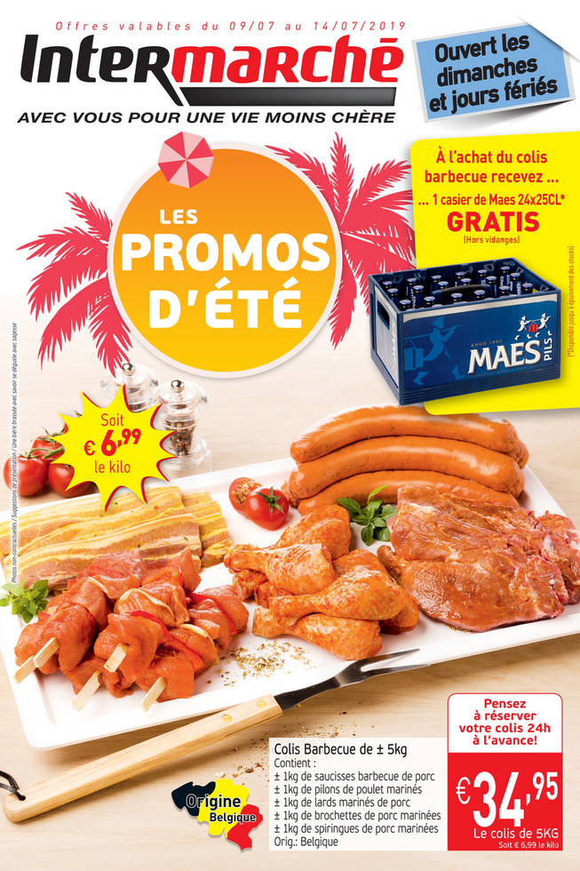 Folder Intermarché du 09/07/2019 au 14/07/2019 - Promotions de la semaine 28