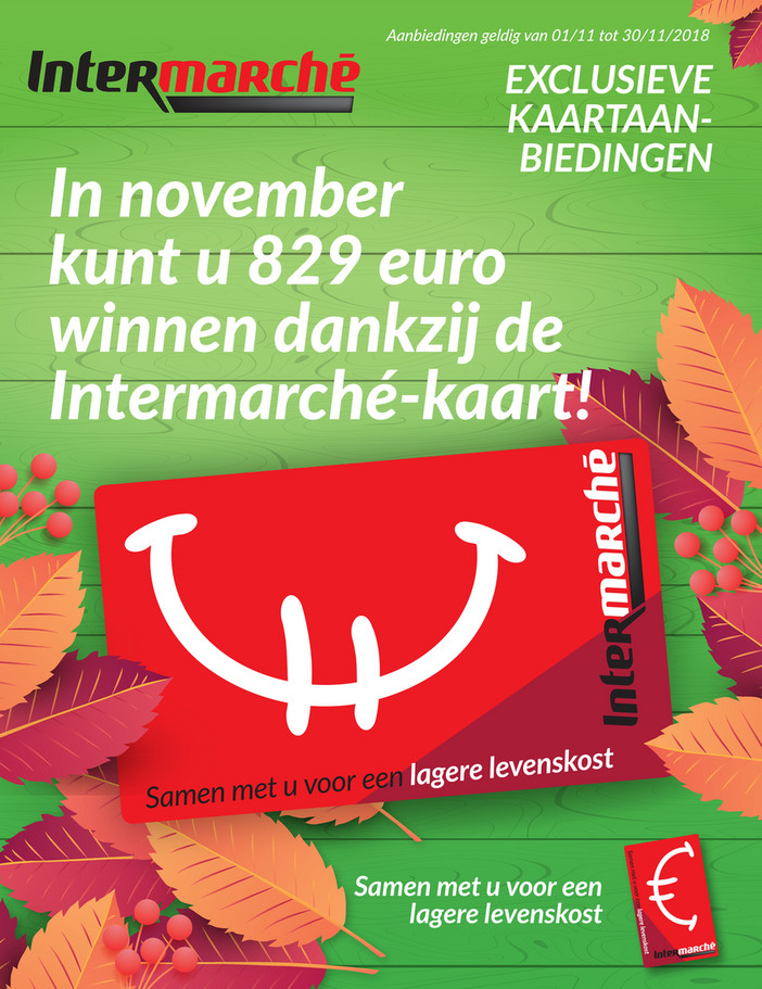 Intermarché folder van 01/11/2018 tot 30/11/2018 - Maandpromoties