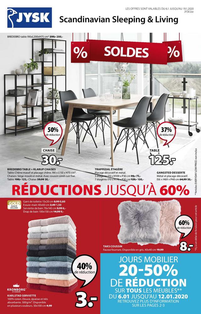 Folder Jysk du 06/01/2020 au 19/01/2020 - Promotions de la semaine 0203