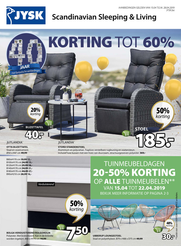 Jysk folder van 15/04/2019 tot 28/04/2019 - Weekpromoties 16