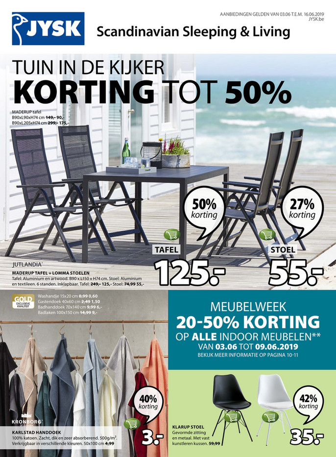 Jysk folder van 03/06/2019 tot 16/06/2019 - Weekpromoties 23