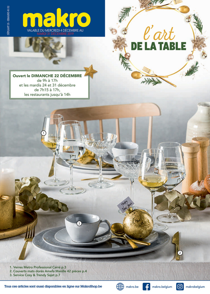 Folder Makro du 04/12/2019 au 31/12/2019 - Art de la table