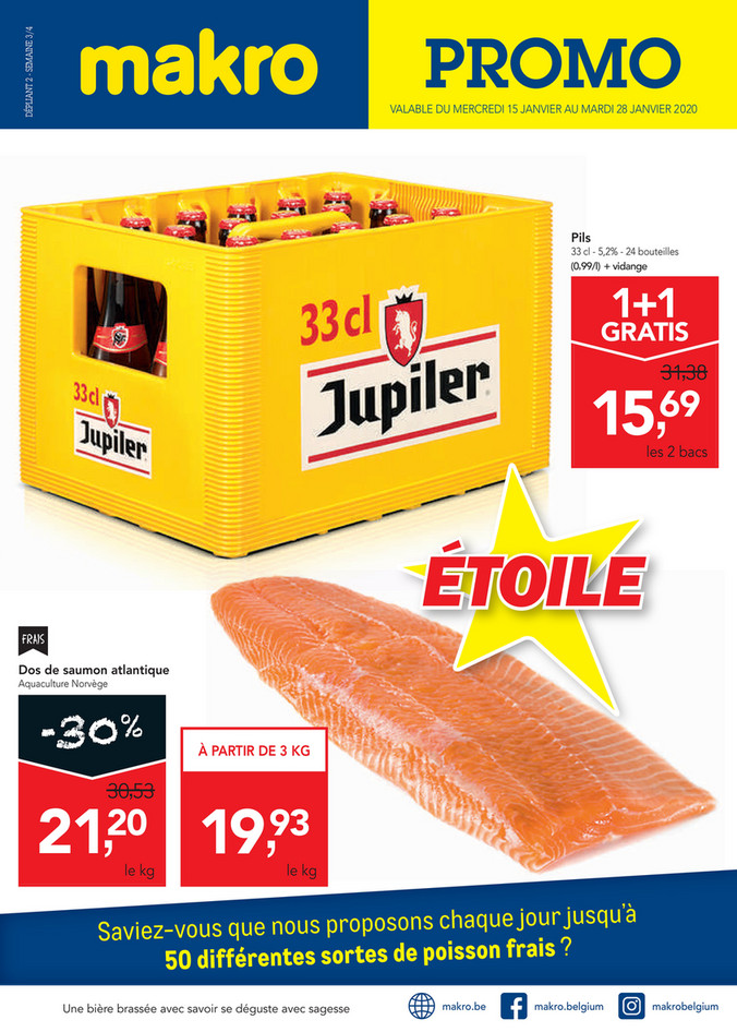 Folder Makro du 15/01/2020 au 28/01/2020 - Promotions de la semaine 02 food