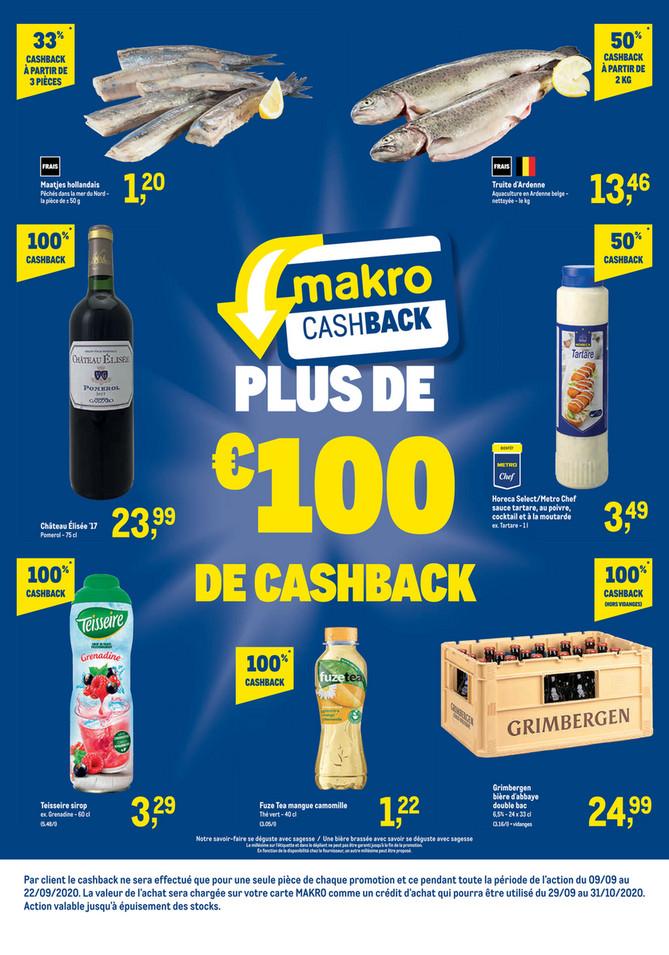 Promotions de la semaine 37 Cashback